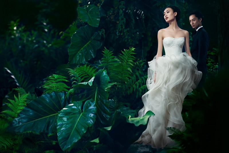 VWSpring4 800x533 Shu Pei Gets Romantic for Vera Wangs Spring 2013 Campaign