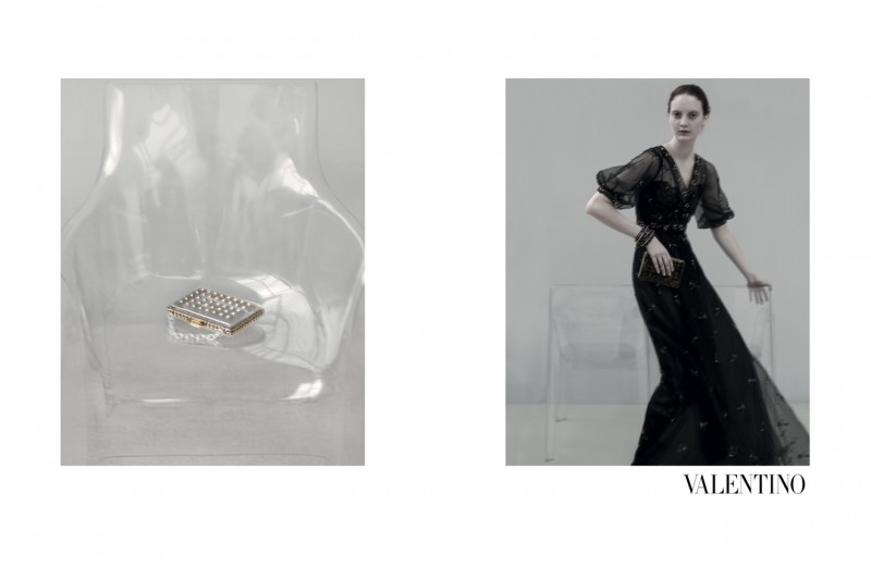 ValentinoMoon12 800x521 Codie Young, Maud Welzen and Tilda Lindstam Are Icy Beauties for the Valentino Spring 2013 Campaign by Sarah Moon