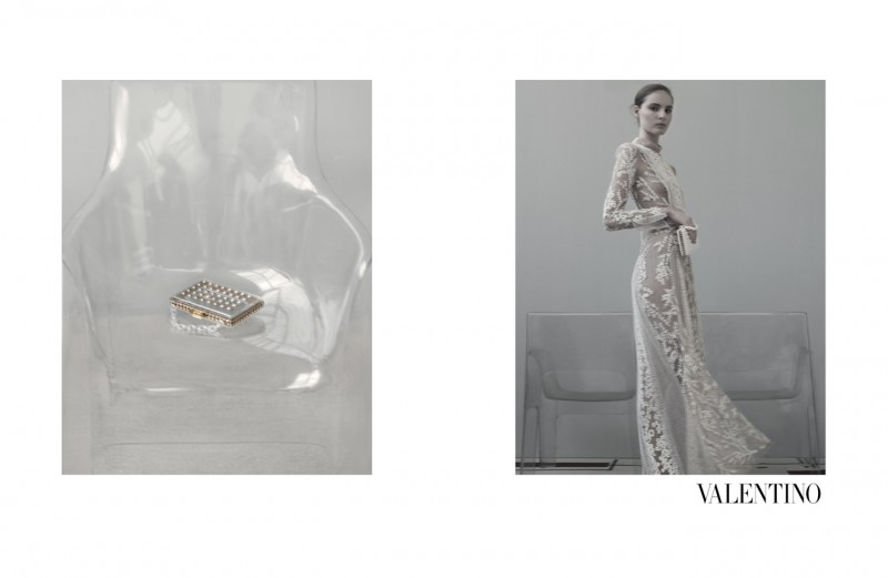 ValentinoMoon8 800x521 Codie Young, Maud Welzen and Tilda Lindstam Are Icy Beauties for the Valentino Spring 2013 Campaign by Sarah Moon