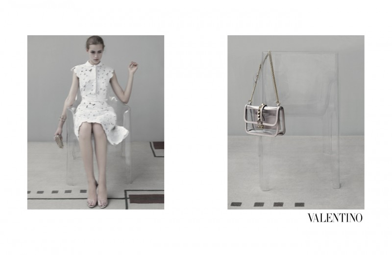 Codie Young, Maud Welzen and Tilda Lindstam Are Icy Beauties for the Valentino Spring 2013 Campaign by Sarah Moon