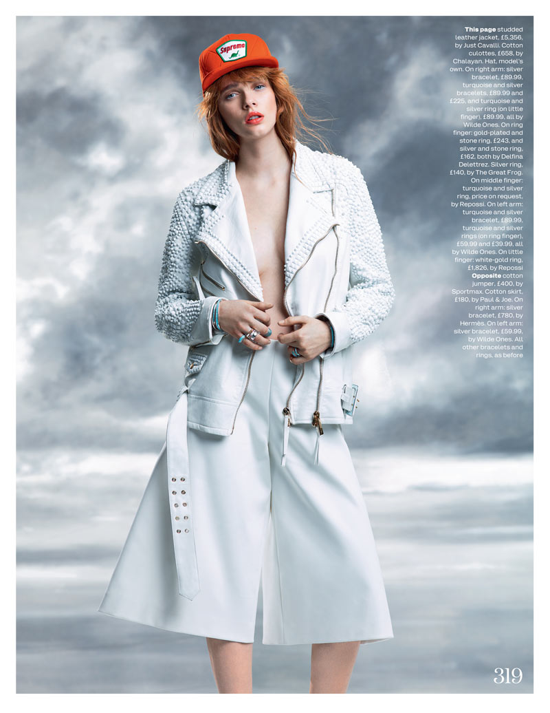 Beegee Margenyte Dons Sporty Style for Elle UK March 2013 by David Vasiljevic