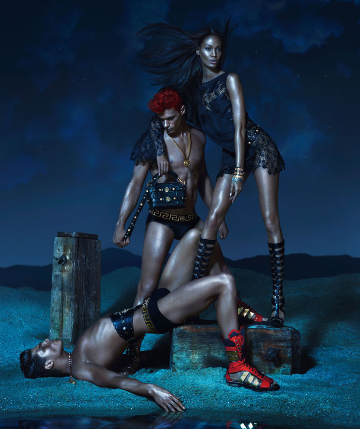 VersaceSS2 Kate Moss, Daria Werbowy and Joan Smalls Are Divine Beauties for Versaces Spring 2013 Campaign by Mert & Marcus