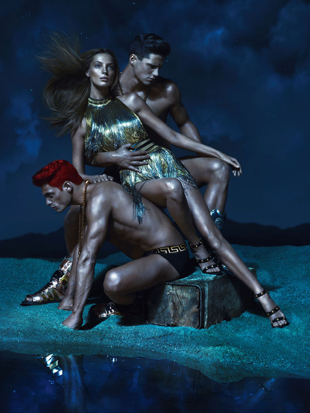 VersaceSS5 Kate Moss, Daria Werbowy and Joan Smalls Are Divine Beauties for Versaces Spring 2013 Campaign by Mert & Marcus