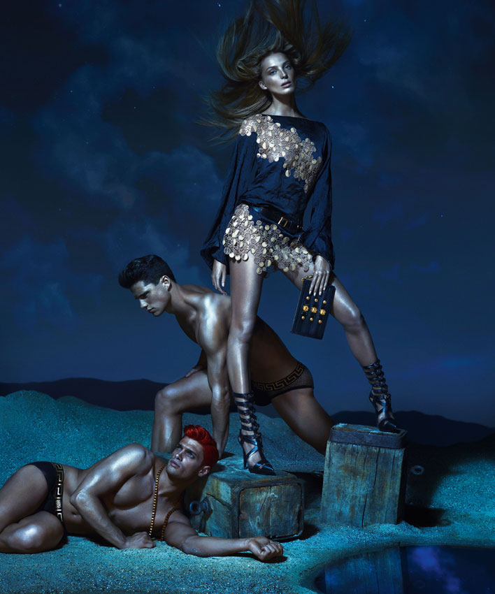 VersaceSS7 Kate Moss, Daria Werbowy and Joan Smalls Are Divine Beauties for Versaces Spring 2013 Campaign by Mert & Marcus