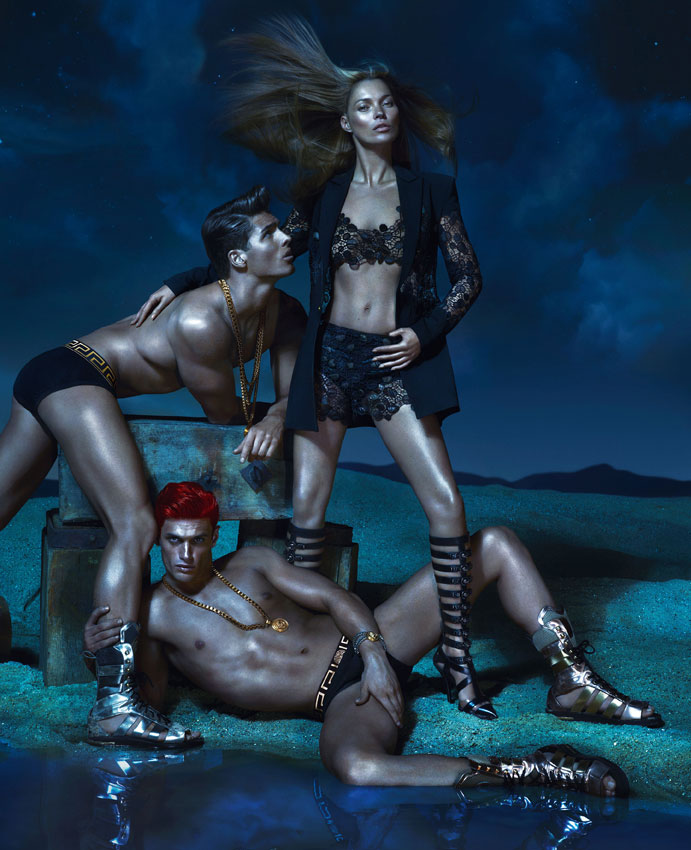 VersaceSS9 Kate Moss, Daria Werbowy and Joan Smalls Are Divine Beauties for Versaces Spring 2013 Campaign by Mert & Marcus