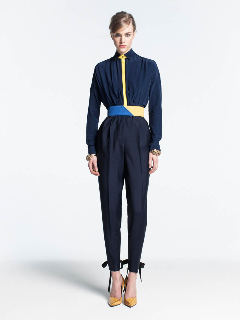 VionnetPF3 Vionnet Showcases Color Blocking Looks for its Pre Fall 2013 Collection
