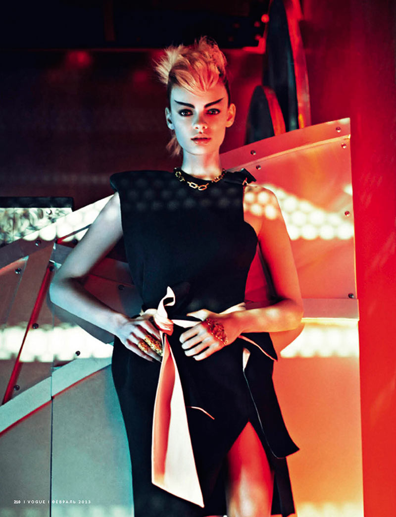 VogueAsia2 Stef Van der Laan Poses for Sebastian Kim in Vogue Russias February Issue
