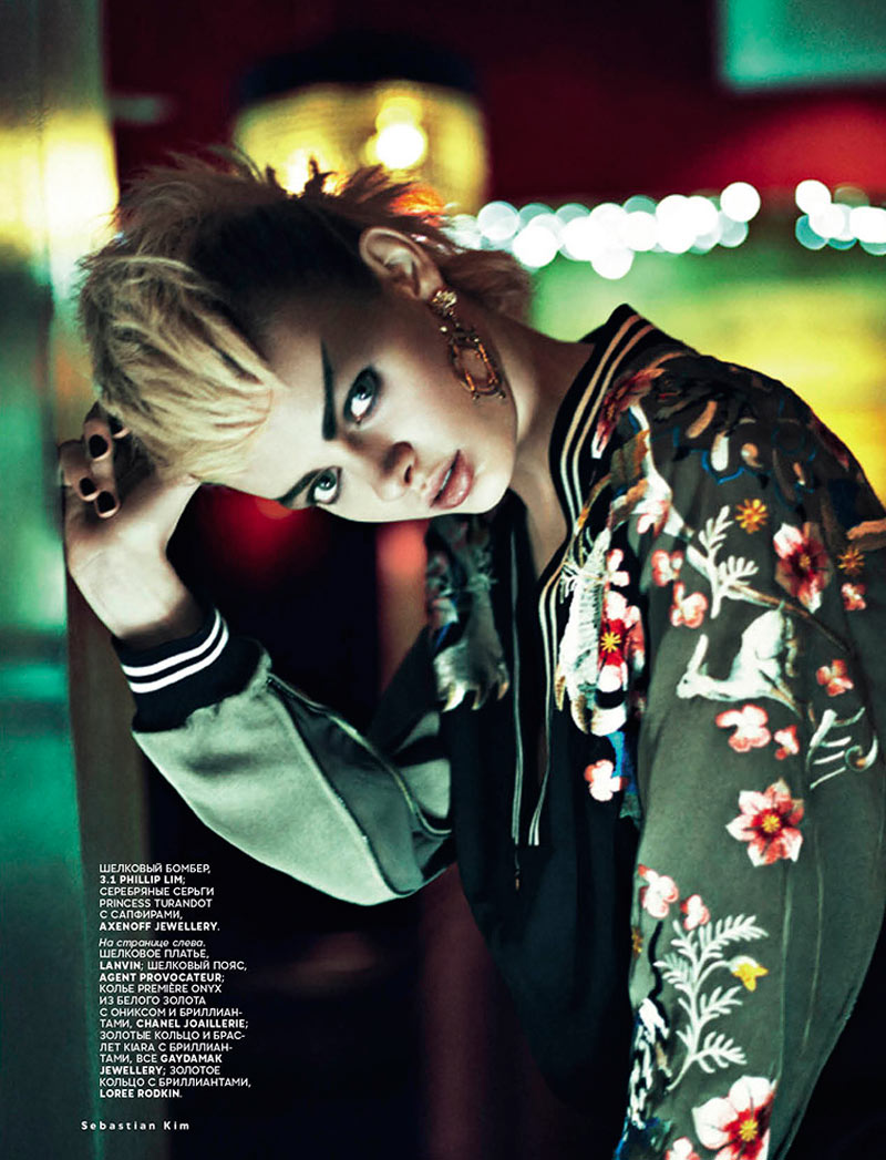 VogueAsia3 Stef Van der Laan Poses for Sebastian Kim in Vogue Russias February Issue