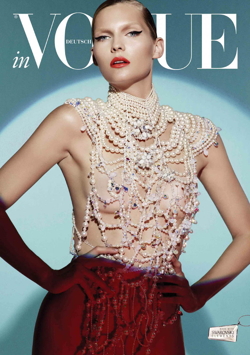 VogueCrystals10 Karolin Wolter Shines in Swarovski Elements for Vogue Germanys 2013 Horoscope