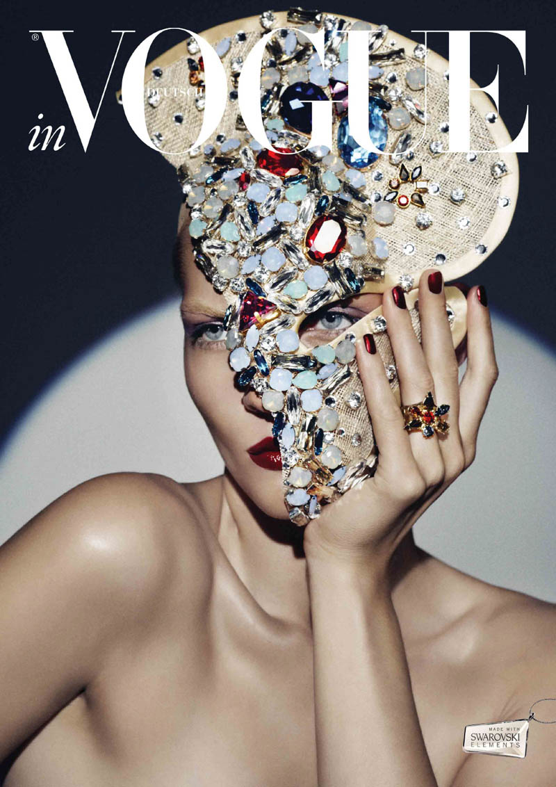VogueCrystals3 Karolin Wolter Shines in Swarovski Elements for Vogue Germanys 2013 Horoscope
