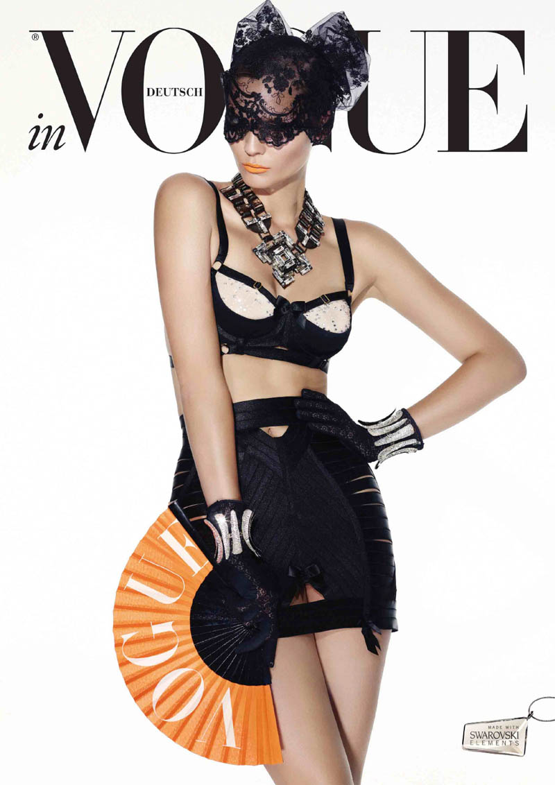 VogueCrystals5 Karolin Wolter Shines in Swarovski Elements for Vogue Germanys 2013 Horoscope