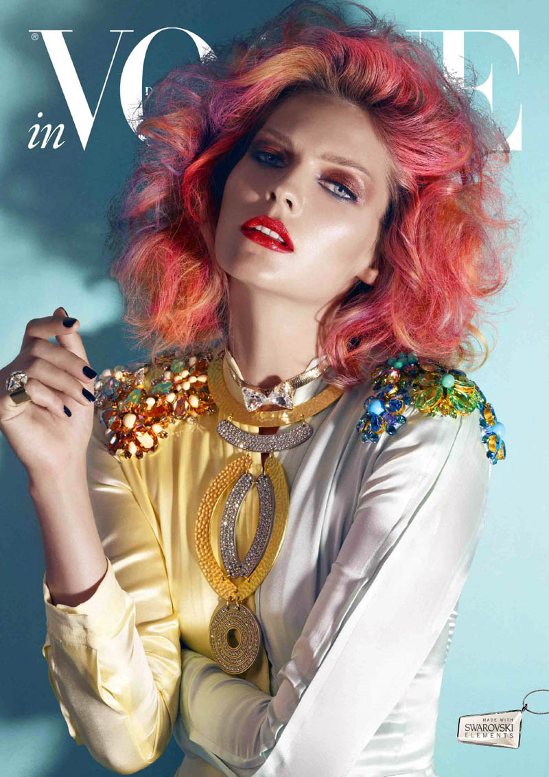 VogueCrystals6 Karolin Wolter Shines in Swarovski Elements for Vogue Germanys 2013 Horoscope