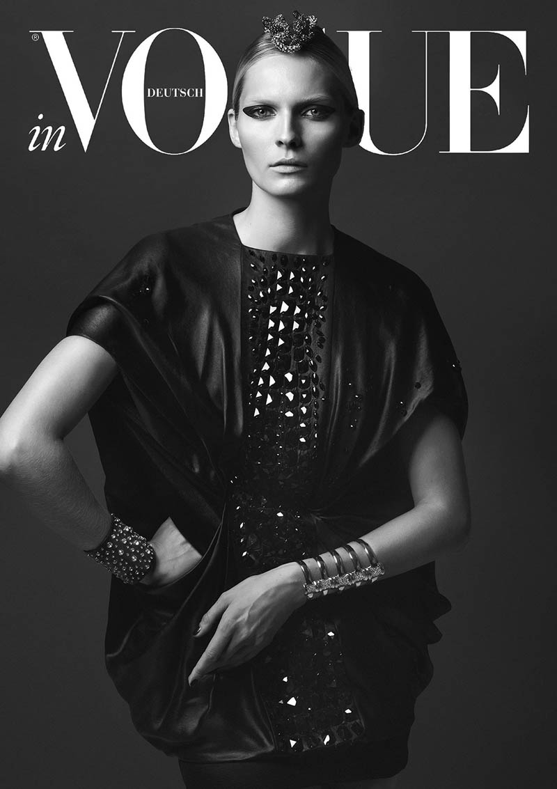 VogueCrystals7 Karolin Wolter Shines in Swarovski Elements for Vogue Germanys 2013 Horoscope