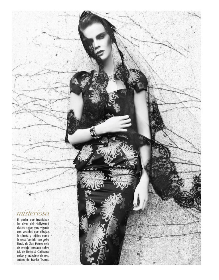 VogueLA2 Kasia Evokes Hollywood Glamour for Vogue Latin America January 2013