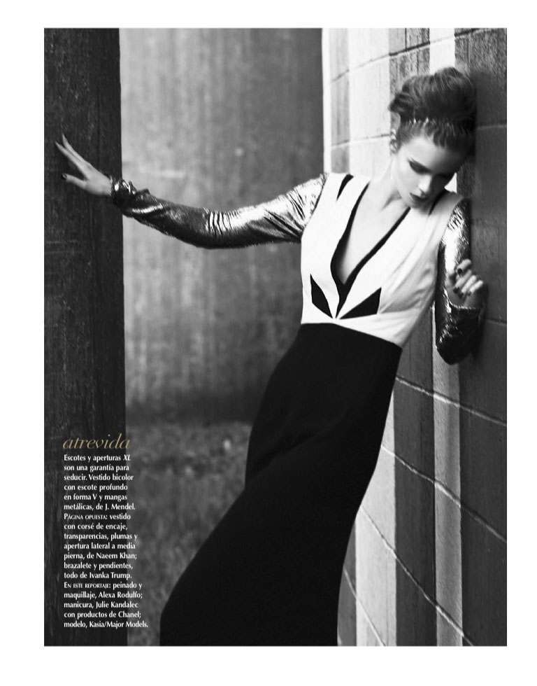 VogueLA3 Kasia Evokes Hollywood Glamour for Vogue Latin America January 2013