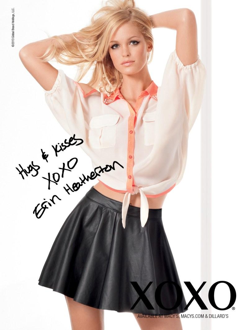 XOXOSpring4 Erin Heatherton Gets Glam for XOXOs Spring 2013 Campaign