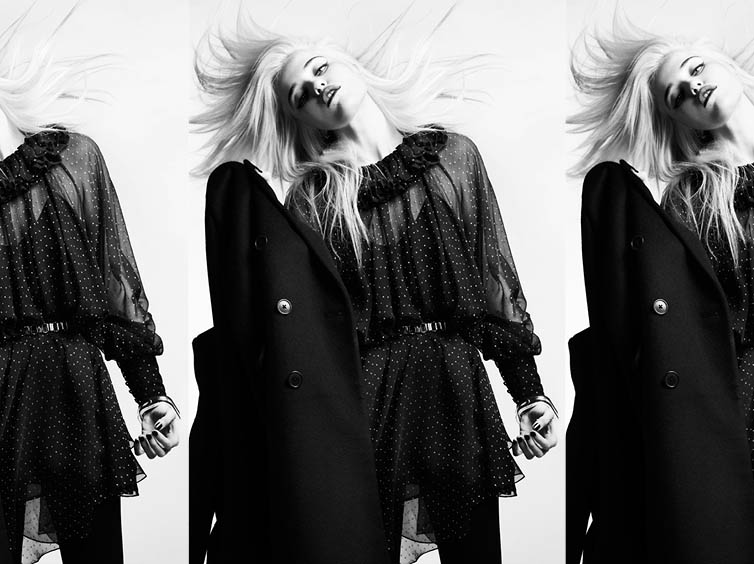 YSLPF1 Sky Ferreira Models Saint Laurents Pre Fall 2013 Collection by Hedi Slimane