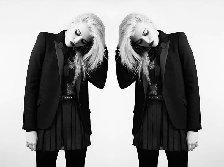 YSLPF11 Sky Ferreira Models Saint Laurents Pre Fall 2013 Collection by Hedi Slimane