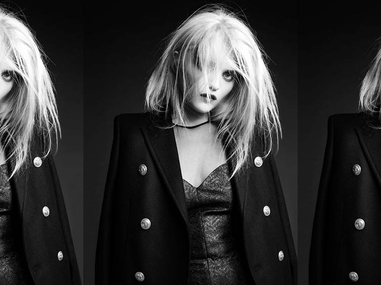 YSLPF12 Sky Ferreira Models Saint Laurents Pre Fall 2013 Collection by Hedi Slimane