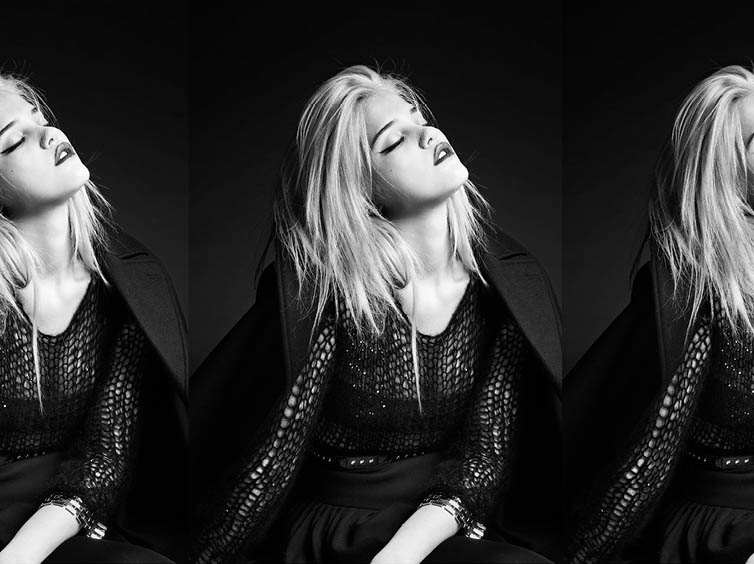 YSLPF14 Sky Ferreira Models Saint Laurents Pre Fall 2013 Collection by Hedi Slimane