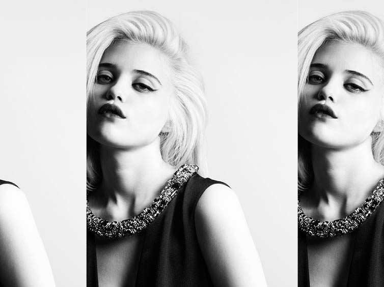 YSLPF16 Sky Ferreira Models Saint Laurents Pre Fall 2013 Collection by Hedi Slimane