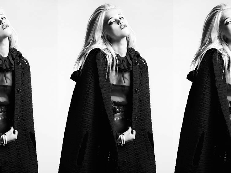 YSLPF17 Sky Ferreira Models Saint Laurents Pre Fall 2013 Collection by Hedi Slimane