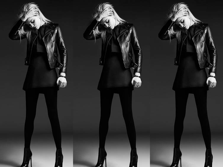 YSLPF4 Sky Ferreira Models Saint Laurents Pre Fall 2013 Collection by Hedi Slimane