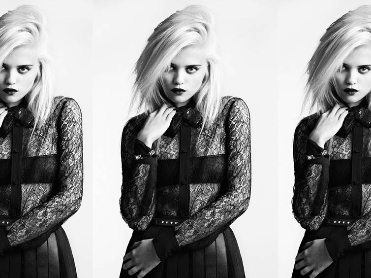 YSLPF7 Sky Ferreira Models Saint Laurents Pre Fall 2013 Collection by Hedi Slimane