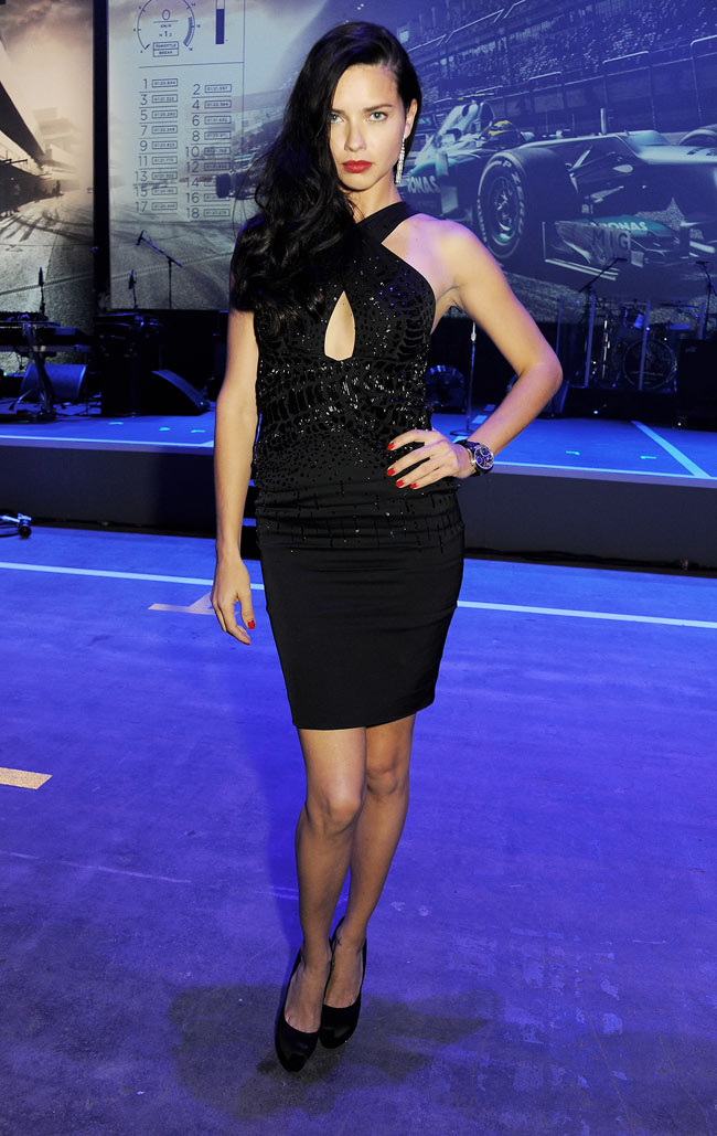 adriana1 Adriana Lima in Roberto Cavalli at the IWC Schaffhausen Race Night Event