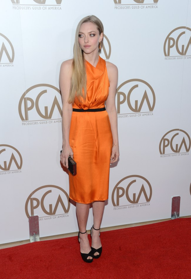 amanda roland1 Amanda Seyfried in Roland Mouret at the 24th Annual Producers Guild Awards