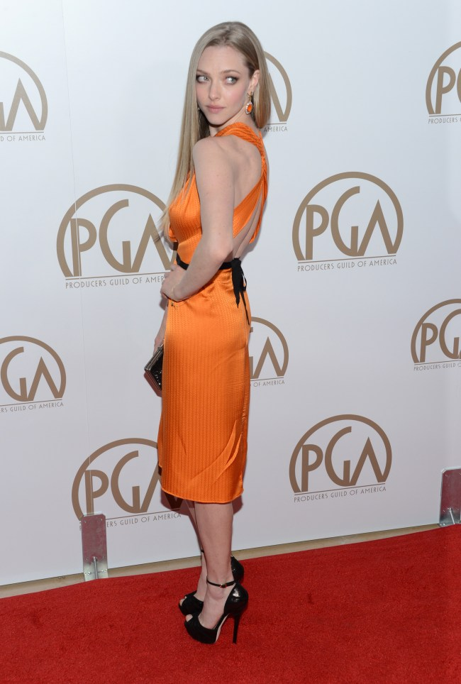 amanda roland2 Amanda Seyfried in Roland Mouret at the 24th Annual Producers Guild Awards