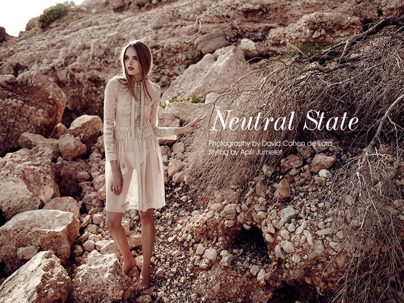 ania Ania Yudina by David Cohen de Lara in Neutral State for Fashion Gone Rogue