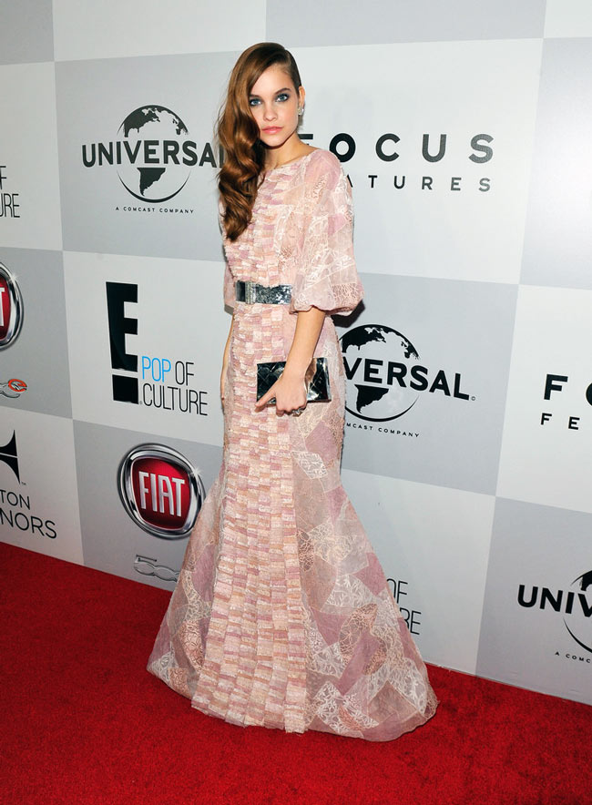 barbara2 Barbara Palvin in Chanel Haute Couture at NBC Universals 2013 Golden Globes After Party