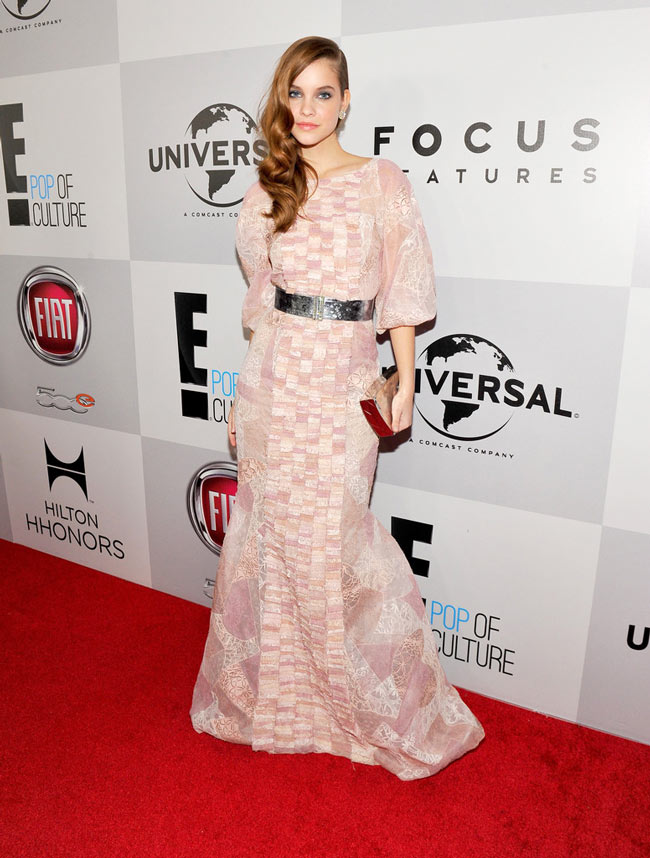 barbara3 Barbara Palvin in Chanel Haute Couture at NBC Universals 2013 Golden Globes After Party
