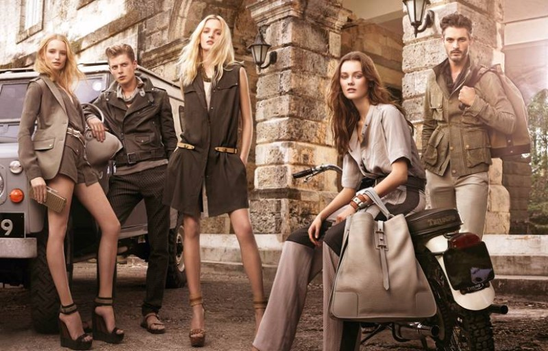 belstaff2 800x512 Belstaff Enlists Jac Jagaciak, Daria Strokous and Maud Welzen for its Spring 2013 Campaign