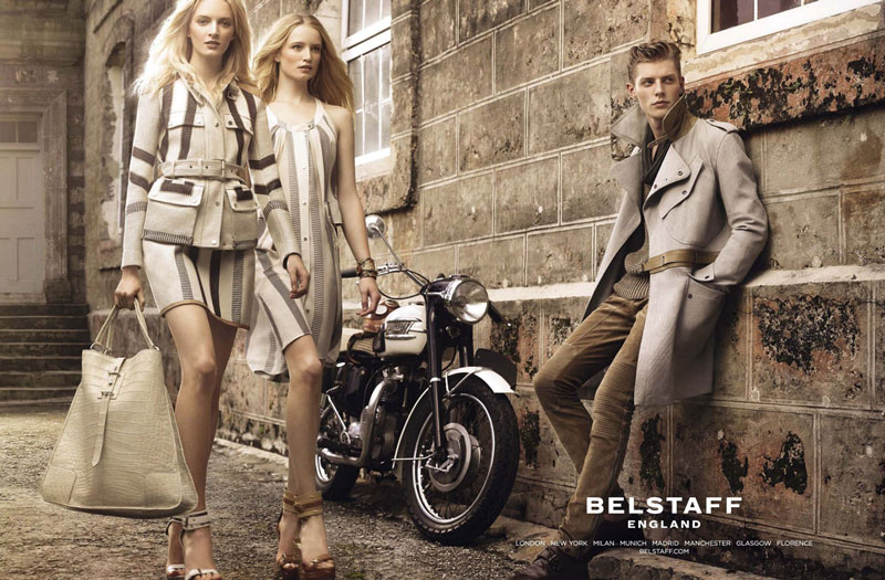 belstaff3 Belstaff Enlists Jac Jagaciak, Daria Strokous and Maud Welzen for its Spring 2013 Campaign