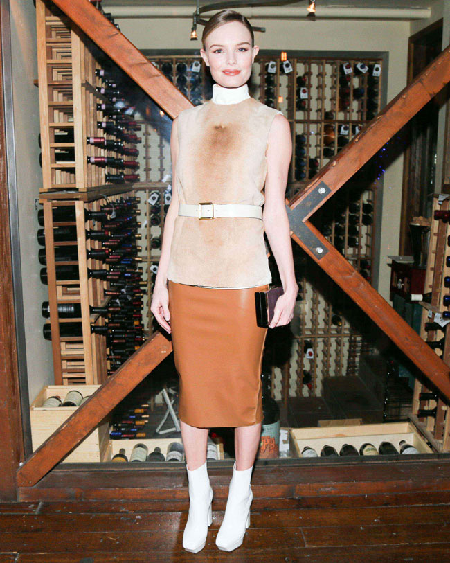 calvin klein3 Kate Bosworth in Calvin Klein Collection at Big Sur Dinner