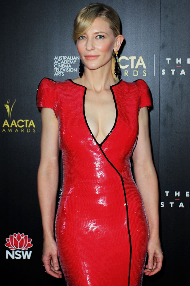 cate1 Cate Blanchett in Armani Prive at the 2nd Annual AACTA Awards