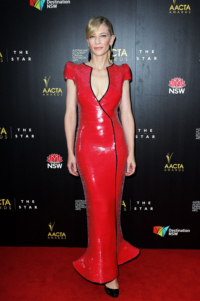cate2 Cate Blanchett in Armani Prive at the 2nd Annual AACTA Awards