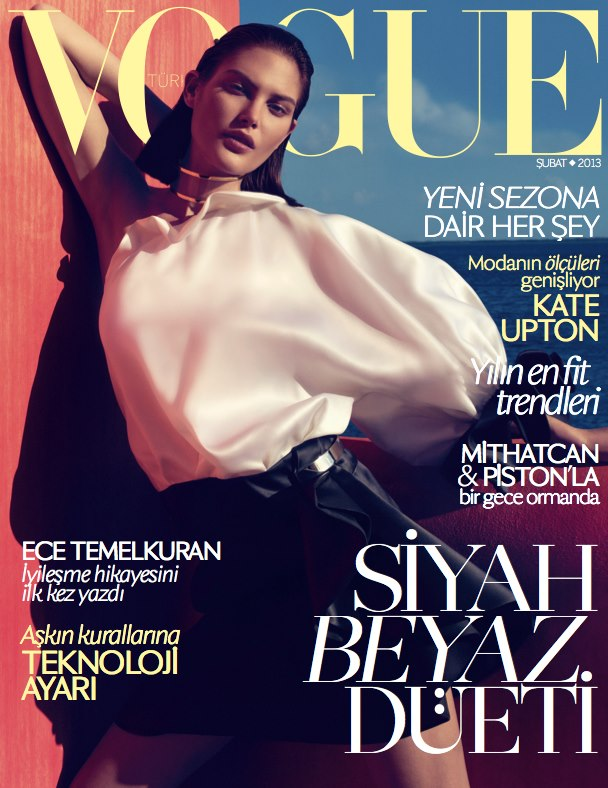 catherinecover Catherine McNeil Dons Givenchy for Vogue Turkeys February 2013 Cover