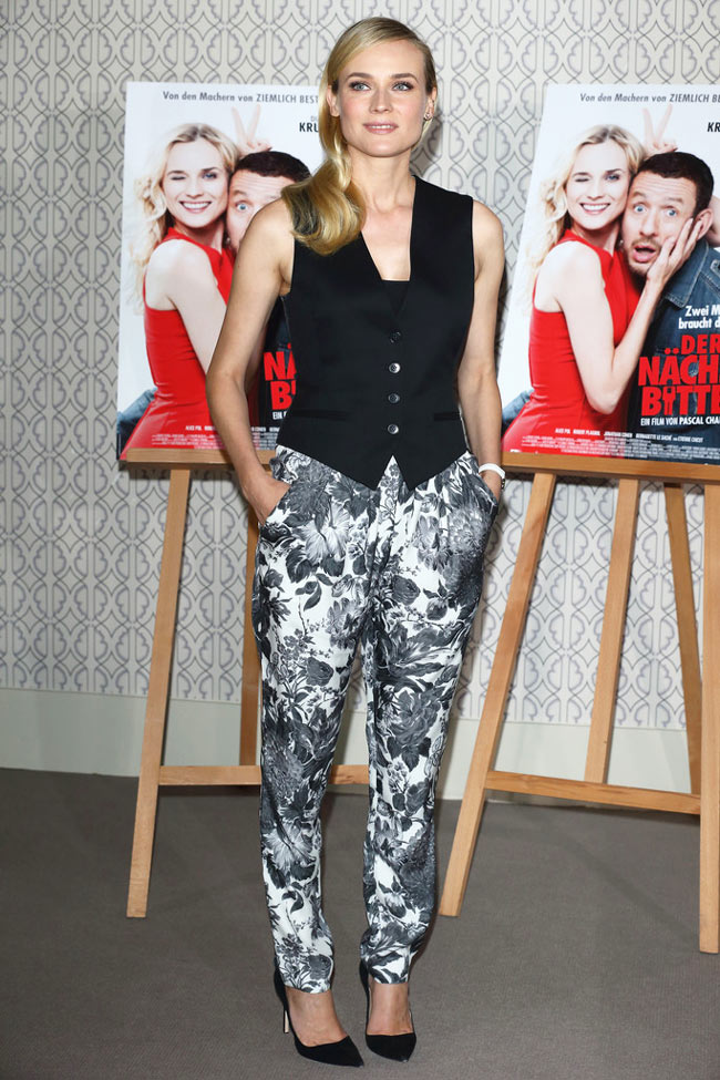 diane stella1 Diane Kruger in Stella McCartney at the Der Naechste, Bitte! Photo Call