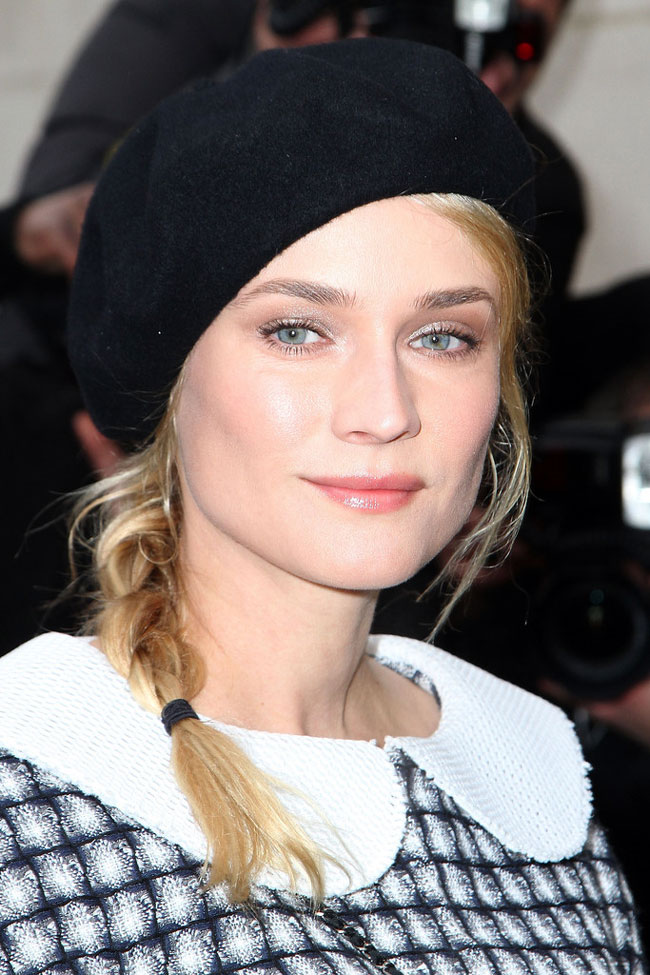 diane2 Diane Kruger in Chanel at the Chanel Haute Couture Spring/Summer 2013 Show