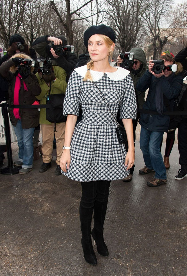 diane3 Diane Kruger in Chanel at the Chanel Haute Couture Spring/Summer 2013 Show