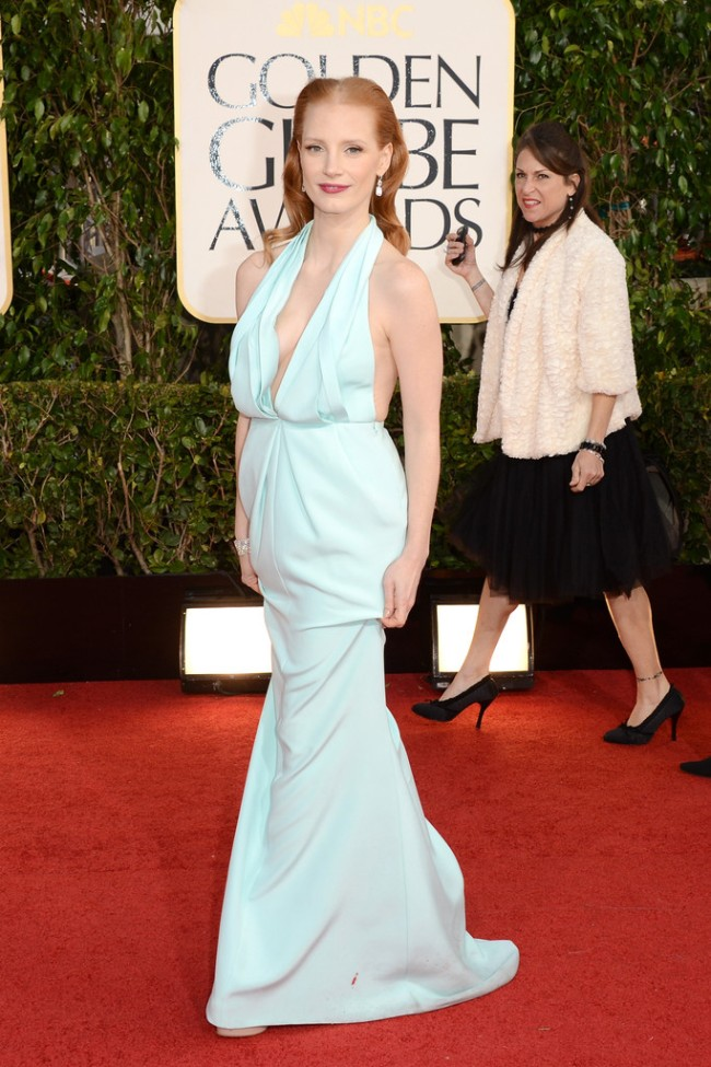 globes4 Anne Hathaway in Chanel, Megan Fox in Dolce & Gabbana, Amanda Seyfried in Givenchy and More Stars at the 70th Annual Golden Globe Awards