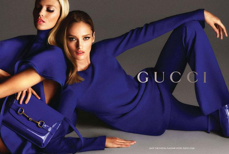 Anja Rubik and Karmen Pedaru Land Gucci's Spring 2013 Campaign by Mert & Marcus