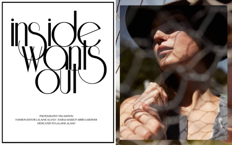 """Gunita by Tim Ashton in """"Inside Wants Out"""" for Fashion Gone Rogue"""