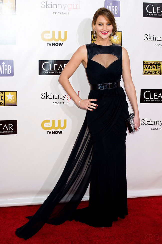 jennifer2 Jennifer Lawrence in Prabal Gurung at the 18th Annual Critics Choice Awards