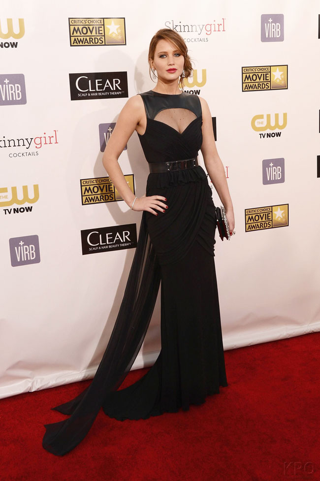 jennifer3 Jennifer Lawrence in Prabal Gurung at the 18th Annual Critics Choice Awards