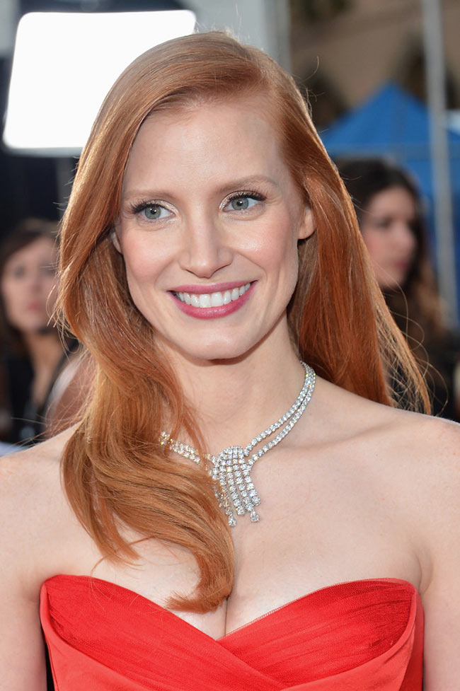 jessica sag2 Jessica Chastain in Alexander McQueen at the 19th Annual Screen Actors Guild Awards