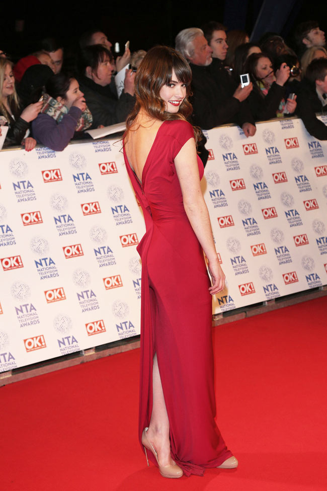 lily2 Lily James in Donna Karan at Britains National Television Awards